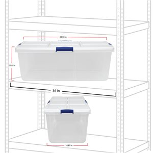 Hefty 25-Gal Clear Tote with Latching Lid