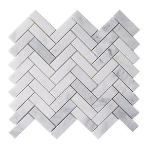 Bestview Boardwalk Herringbone 12-in x 12-in Natural Stone Mosaic Wall Tile