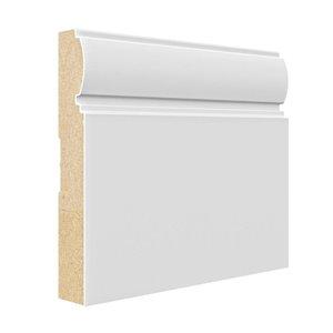 3/4 x 5-1/2 x 8-ft Primed MDF Baseboard Moulding