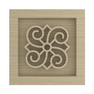 Fashion Forward Stain Grade Poplar Rosette Moulding Block