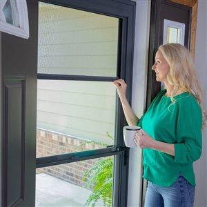 LARSON 32-in x 81-in Sandstone Tradewinds Full-View Tempered Glass Storm Door