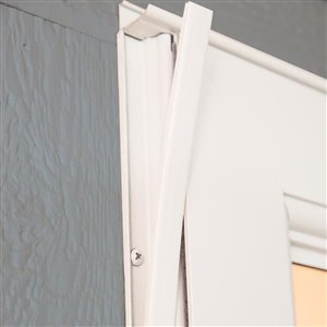 LARSON 32-in x 81-in White Tradewinds Full-View Tempered Glass Storm Door