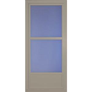 LARSON 36-in x 81-in Sandstone Tradewinds Mid-View Tempered Glass Storm Door