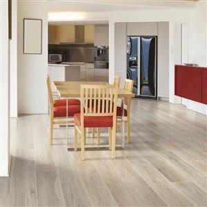 Mohawk Dakota Sandcastle Oak 7.48-in W x 4.52-ft L Embossed Wood Plank Laminate Flooring