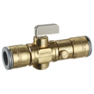 1/2-in Dia. Brass Push Quarter Turn Straight Valve