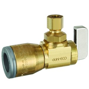 1/2-in x 1/4-in Dia. Brass Push x Comp Quarter Turn Angle Valve