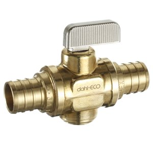 3/4-in Dia. Brass PEX Quarter Turn Straight Valve