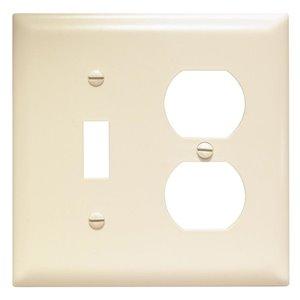 Legrand Trademaster 2-Gang Toggle/Duplex Combination Wall Plate (Light Almond)