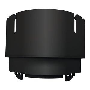 3-in - 4-in Dia. Black Corrugated Pipe Adapter