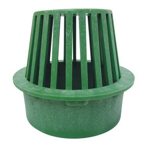 6-in Dia. Green Round Irrigation/Drainage Atrium Grate