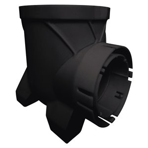 6-in Dia. Black Bullet Single Outlet Irrigation/Drainage Catch Basin