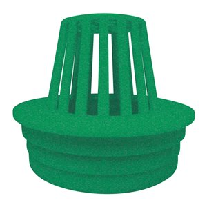 3-in - 4-in Dia.  Green Irrigation/Drainage Drain/Atrium Grate
