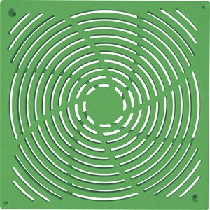 9-in. Green Square Plastic Irrigation/Drainage Grate - For Catch Basin