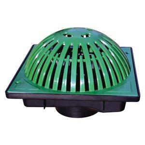 9-in. Green Plastic Atrium Grate Irrigation/Drainage Catch Basin