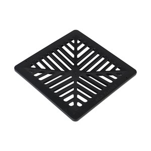 9-in. Black Concave Square Plastic Grate - For Irrigation/Drainage Catch Basin