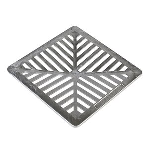 9-in. Black Concave Square Aluminum Irrigation/Drainage Grate - For Catch Basin
