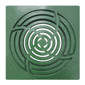 6-in Dia. Green Square Drain Irrigation/Drainage Grate