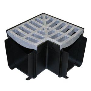 4-in Dia x 7-in L. Grey Plastic Grate Corner Irrigation Channel