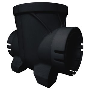 6-in Dia. Black Bullet Double Outlet Irrigation/Drainage Catch Basin