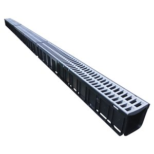 3-in - 4-in Dia x 120-in (10-ft) L. Grey Plastic Grate Irrigation Channel