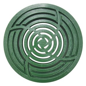 3-in - 4-in Dia. Green Round Drain Irrigation/Drainage Grate