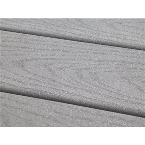 Trex 1-in x 6-in x 12-ft Pebble Grey Select Composite Decking