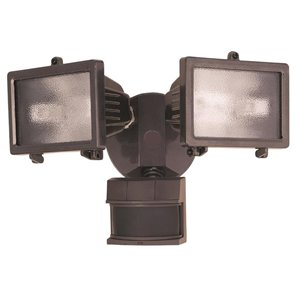 Heath Zenith 240 Degree Halogen Bronze Motion Security Light