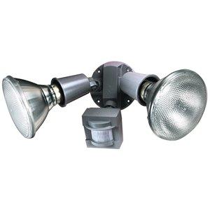 Heath Zenith 110 Degree Motion Flood Security Light Gray