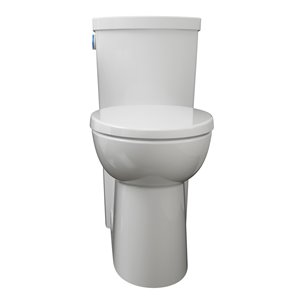 American Standard Everclean 2-Piece Touchless Flush Elongated Comfort Height Toilet In White (1.28 GPF)