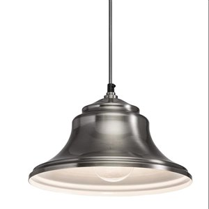 Westwood Collection 11.24-in Classic Pewter Standard Mini Pendant Light with Metal Shade
