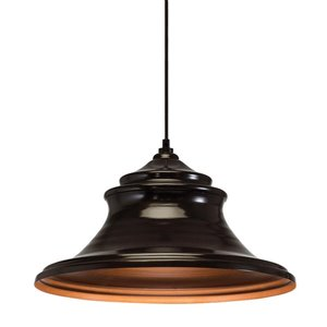Westwood Collection 16.7-in Olde Bronze Standard Mini Pendant Light with Metal Shade