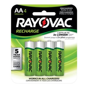 Rayovac Rayovac 4-Pack AA Rechargeable Batteries