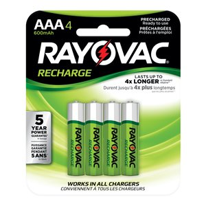 Rayovac Rayovac 4-Pack AAA Rechargeable Batteries