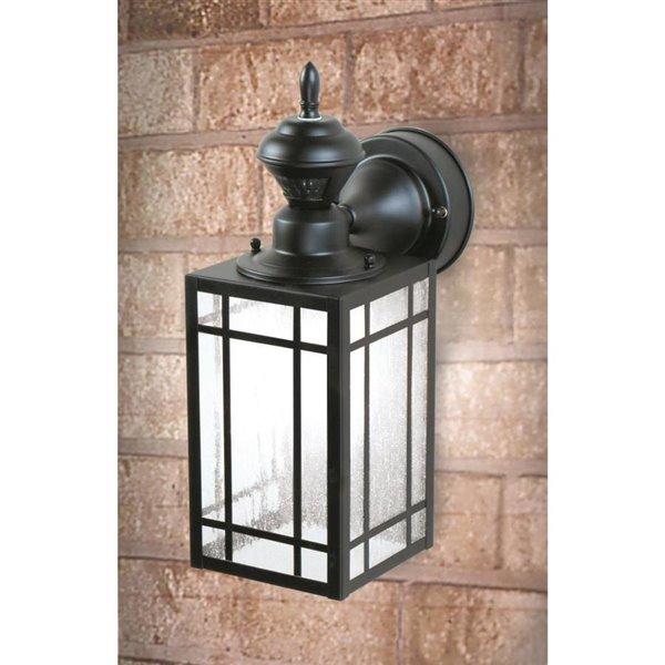 Black Motion Sensor Outdoor Wall Light, Motion Sensor Lantern Outdoor Light