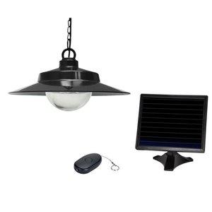 Sunforce 5.31-in Black Solar Outdoor Pendant Light