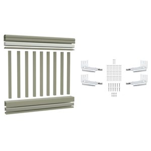 Vision 3-ft x 4-ft Grey PVC Railing Kit (16 Piece)
