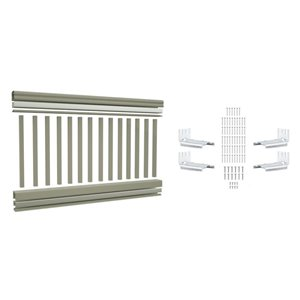 Vision 6-ft x 42-in Grey Composite Stair Railing Kit