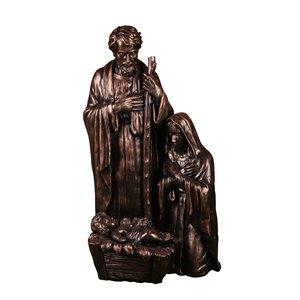 3-ft Hand-Crafted Bronze Resin Nativity Scene