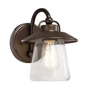Westwood Collection Accord 7-in W 1-Light Mission Bronze Arm Hardwired Wall Sconce