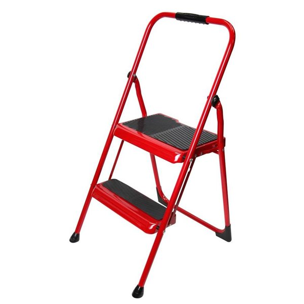 Marvelous Werner 2 Step Steel Foldable Step Stool Pabps2019 Chair Design Images Pabps2019Com