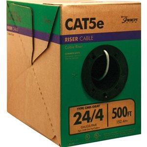 500-ft 24/4 CAT 5E Riser Gray Data Cable