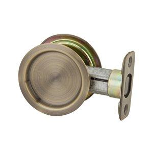 Weiser 2-1/8-in Antique Brass Passage Pocket Door Pull