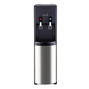 Primo Black/SS Bottom-Loading Cold and Hot Water Cooler ENERGY STAR