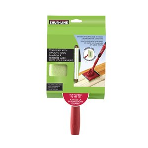 SHUR-LINE Stain Pad with Groove Tool