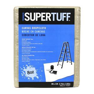 Trimaco Super Tuff Canvas 1-Pack 8 oz. Canvas 9-ft x 12-ft Drop Cloth