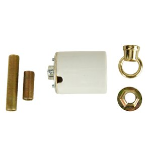 Portfolio White/Polished Brass Lamp Socket