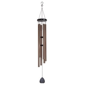 47-in Black and Bronze Metal Modern Wind Chime
