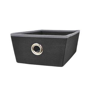 Small Black Fabric Storage Bin