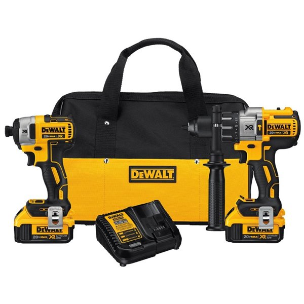 NEW DeWALT 20-Volt Max Li-ion 1//2-Inch Compact Drill Driver Kit Bundle Wholesale