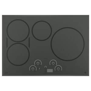 GE 30-in 4-Element Smooth Surface (Radiant) Induction Electric Cooktop (Stainless Steel)
